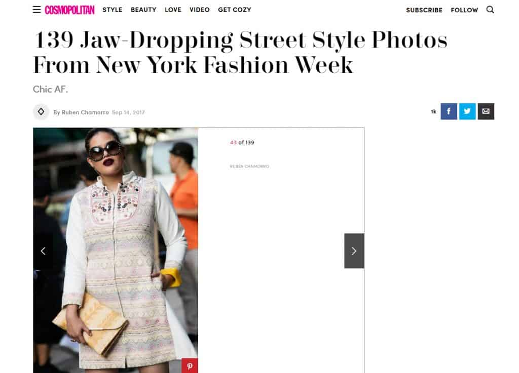 Front Row en el Street Style de Cosmopolitan en el #NYFW
